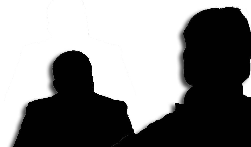 Silhouette of interview